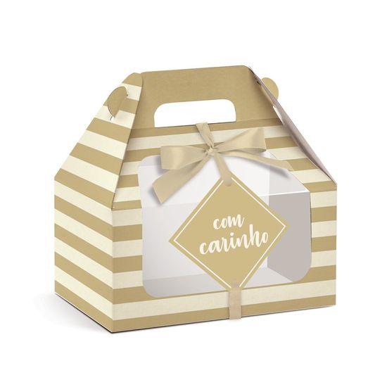 Caixa Maleta Kids - Visor Ouro P 9X6X9 - 10 Un