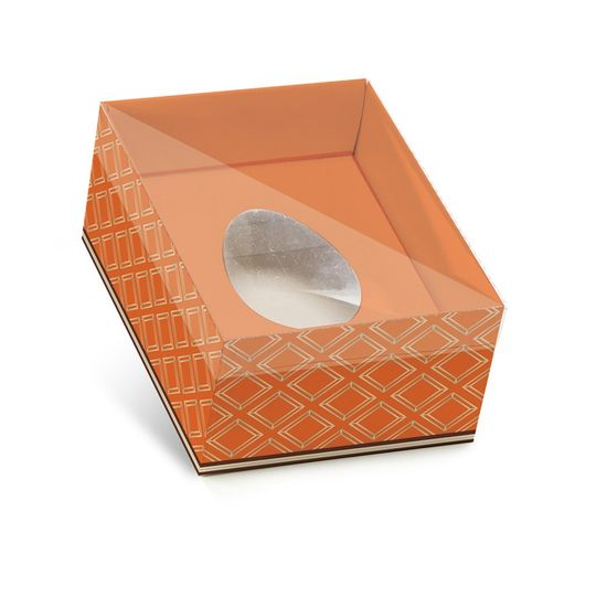 Caixa New Practice Um Meio Ovo Cacau Laranja Mini 50g - Pacote com 6 Un