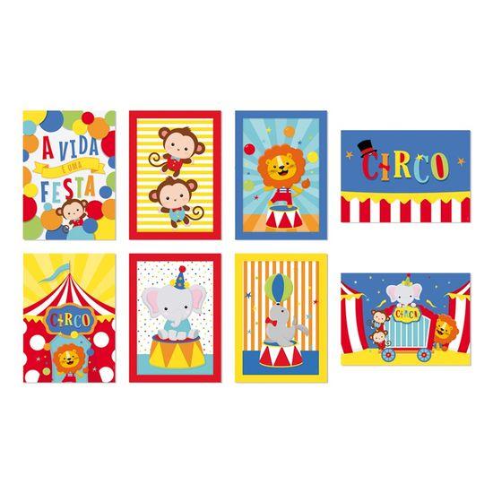Cartaz Decorativo Circo 2 - 25X35 - 8 Unidades