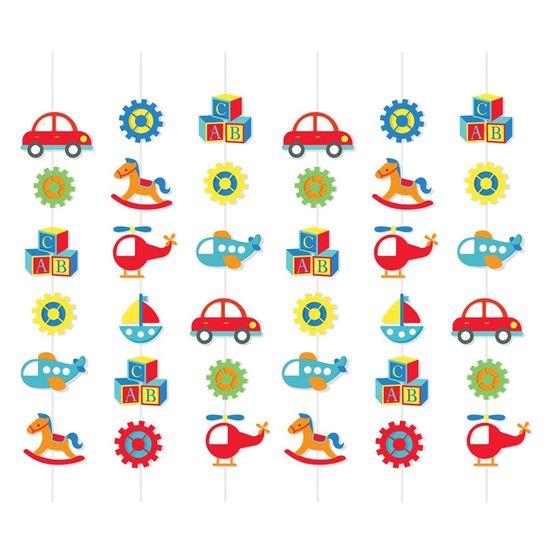 Cortina Decorativa Fabrica De Brinquedos - 6 Un