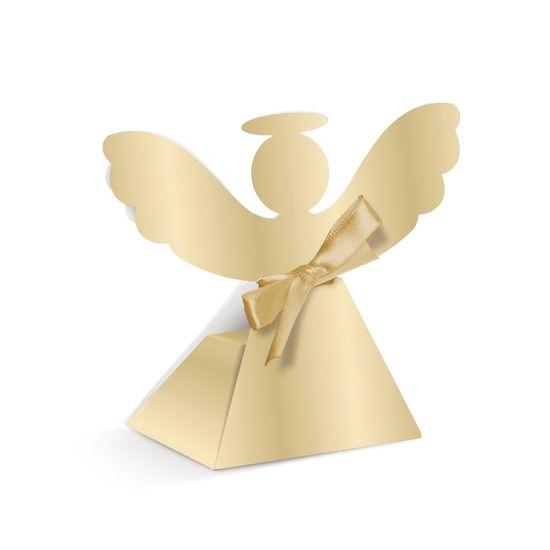Caixa Anjo Ouro Batizado 2 - 8X6X11,5 Pt - 6 Unidades