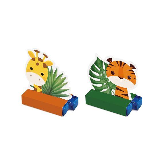Caixa Bis Composse Tigre E Girafa Safári 2 - 5,5X3,5X6,5 Pt - 8 Unidades