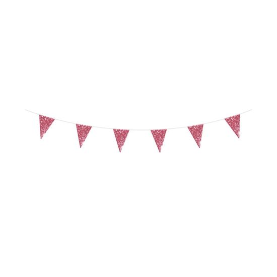 Faixa Decorativa Glitter Rosa 8,5X11,5