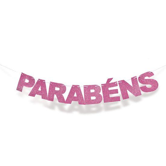 Faixa Eva Parabéns Pink