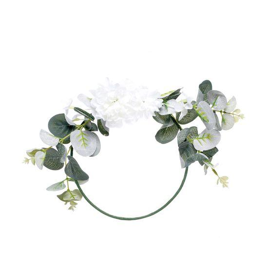 Arco com Arranjo Folhas com Flores Brancas E Verdes 20X20
