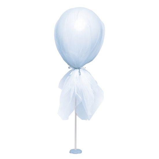 Kit Balão com Tule Azul Claro 20X20X50
