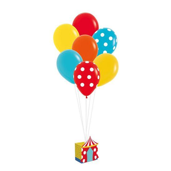 Kit Balões Para Decoração De Painel Circo 2 - 12X6X13,5