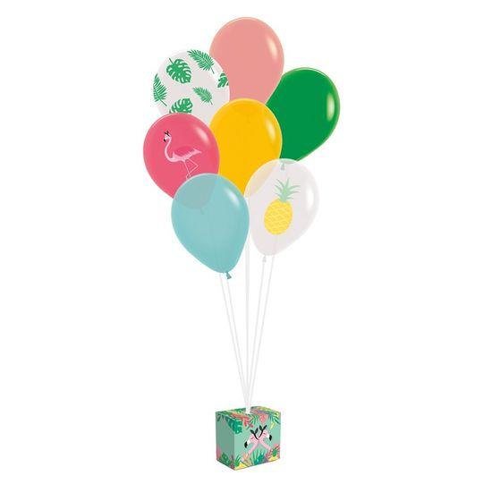 Kit Balões Para Decoração De Painel Flamingo