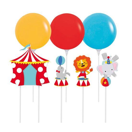 Kit Topo De Bolo com Balão Circo 2