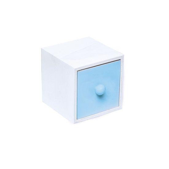 Mini Gaveta Bolinha Azul 7,5X7,8X7,8
