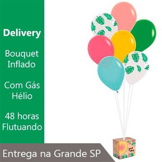 Bouquet de Balões Inflado com Gás Hélio - Kit Balões para Decoração de Painel Tropical Tucano