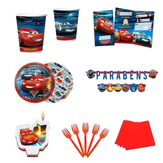 Festa Carros Disney - KIT PARA FESTA CARS DISNEY 3 - PARA 08 PESSOAS