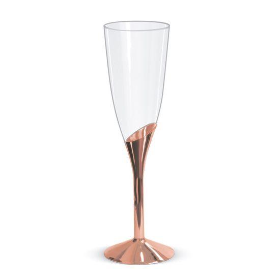 Taça Champagne Base Rose - 6 Unidades