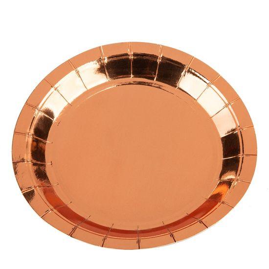 Prato Papel Liso Bronze - 10 Un