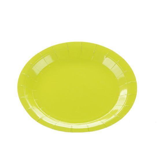 Prato Papel Liso Verde Limao - 10 Un