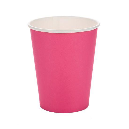 Copo Papel Liso Pink - 10 Un