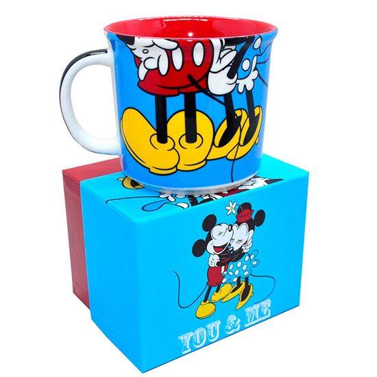 Caneca Porcelana Mickey Mouse e Minnie You e Me - 1 Unidade