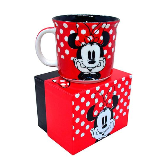 Festa Minnie Vermelha - Caneca Porcelana Minnie Vermelha - 1 Unidade
