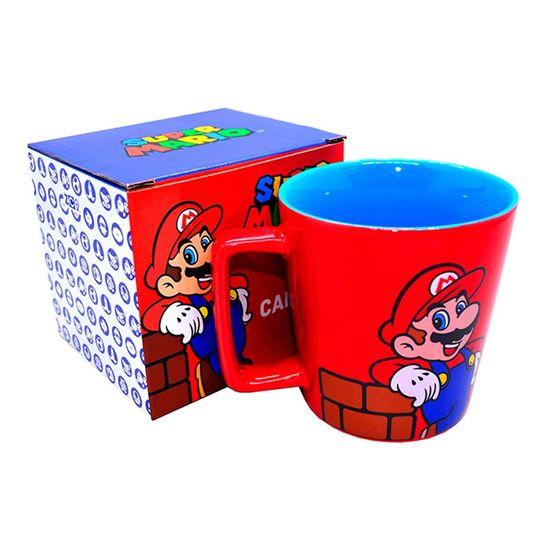 Festa Super Mario Bros - Caneca Porcelana Super Mario Red - 1 Unidade