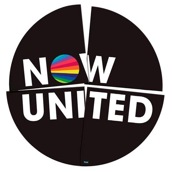 Festa Now United - Painel Redondo Cartonado 4 Lâminas Now United