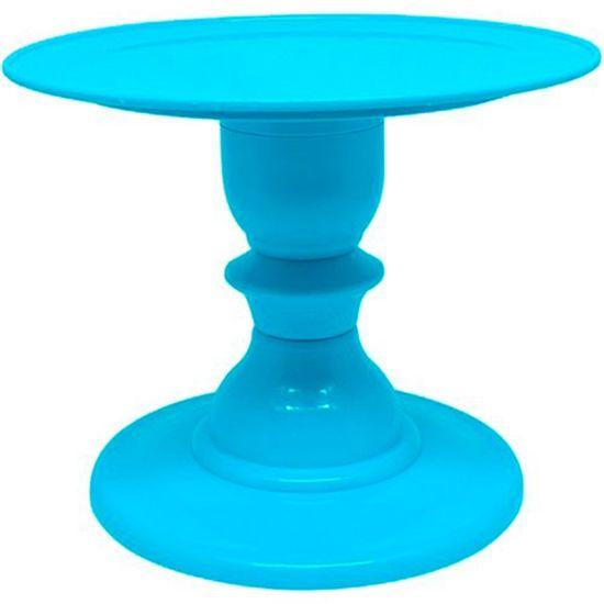 Suporte Boleira Plástica Lisa Azul Claro 22x18cm - 1 Unidade