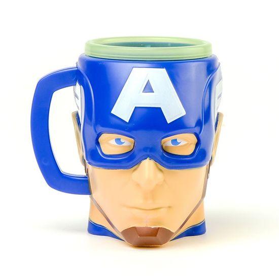 Festa Os Vingadores - Kit Caneca 3D Capitão América com Cookies - 01 unidade