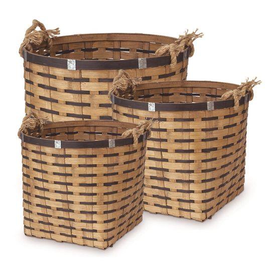 Cestos em Bambu de Sisal Balaio P/M/G