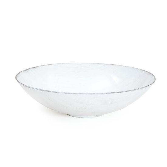 Base Plástica Redondo Alta Branco Preto P