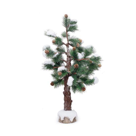 Árvore de Natal Nevada Verde e Marrom e Branco G