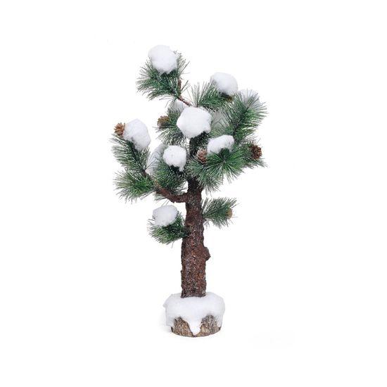 Árvore de Natal Nevada Verde e Marrom e Branco M