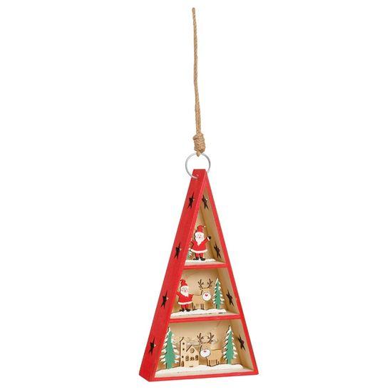 Pinheiro com Led Noel e Rena Cru e Vermelho e Verde Bandeira