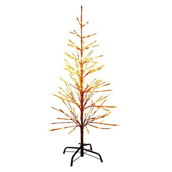 Árvore de Natal 224 Leds Clara / Marrom 120cm Bivolt