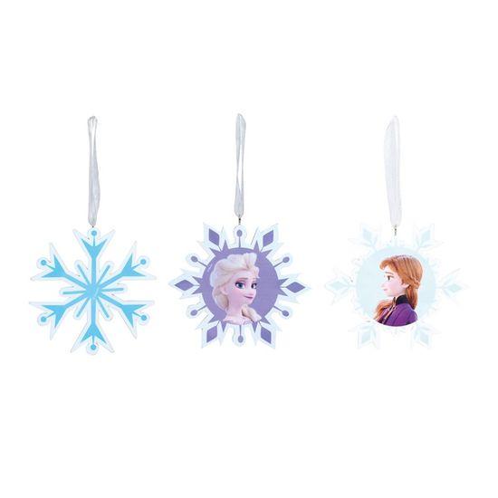 Natal Disney - Enfeite para Pendurar - Floco de Neve Frozen Sortido Colorido - 3 Un