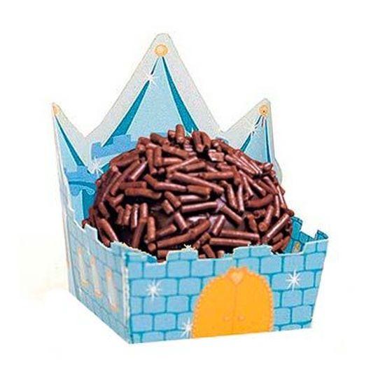 Cromus - Micro Forminha para Doces Castelo Azul 24 unidades