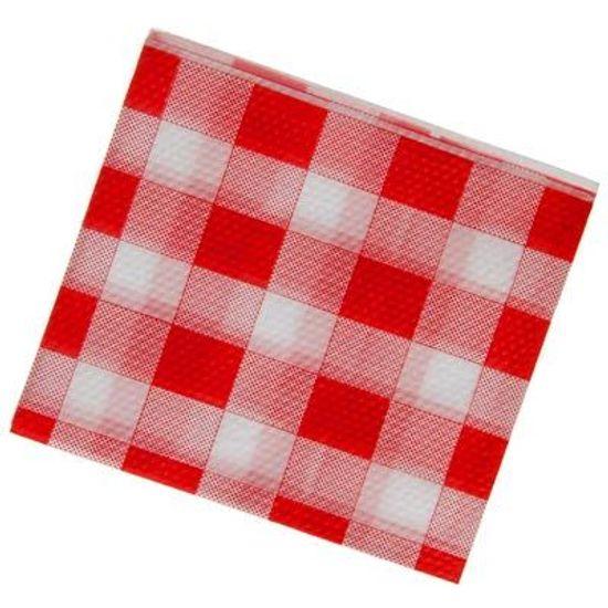 Guardanapo Pequeno Xadrez Vermelho - 50 Un