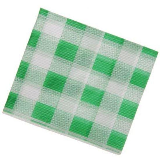 Guardanapo Pequeno Xadrez Verde - 50 unidades