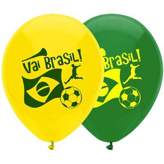 Balão Especial n° 9 (23cm) Copa do Mundo Brasil - 20 unidades
