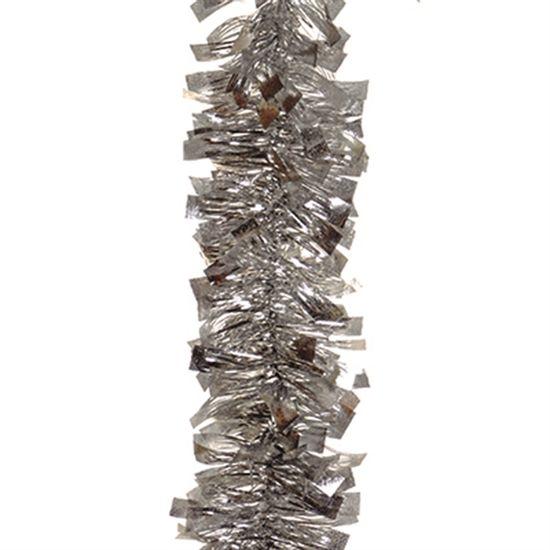 Festão Metalóide Prata 11 cm x 200 cm - 12 unidades