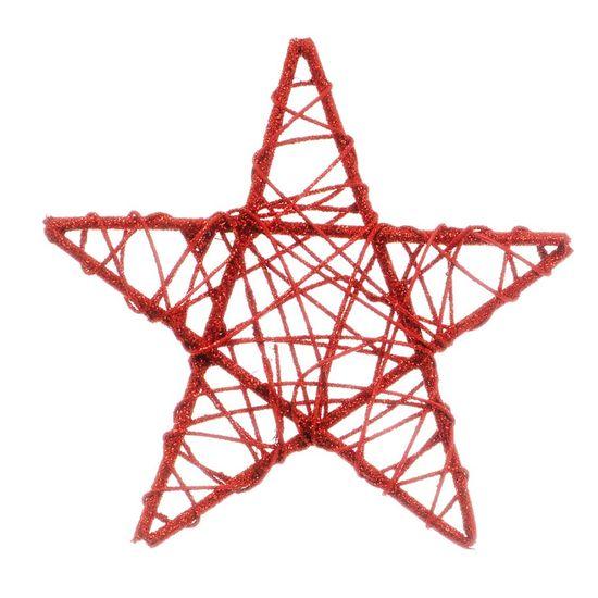 Estrela Rattan Vermelho 20cm (Rattan) - 1 Unidade
