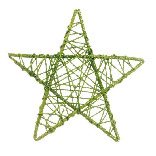 Estrela Rattan Verde 20cm (Rattan) - 1 Unidade