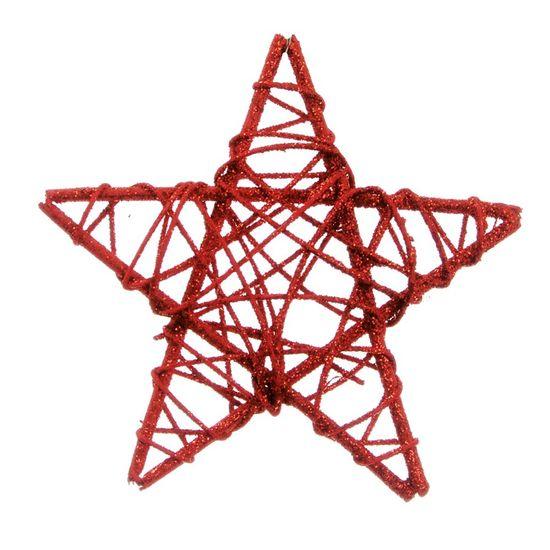 Estrela Rattan Vermelho 15cm (Rattan) - 1 Unidade