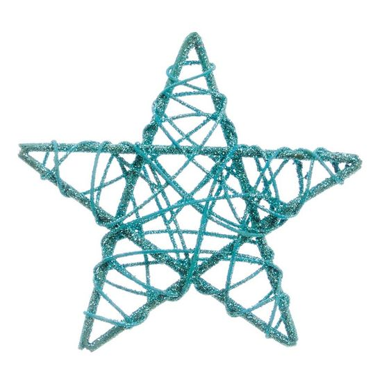 Estrela Rattan Azul 15cm (Rattan) - 1 Unidade