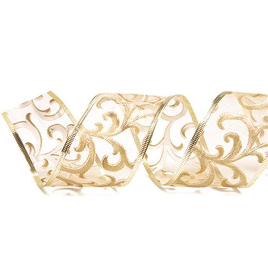 Fitas de Natal - Ouro - Pacote com 3 un - 3,8 cm x 9,14 mts
