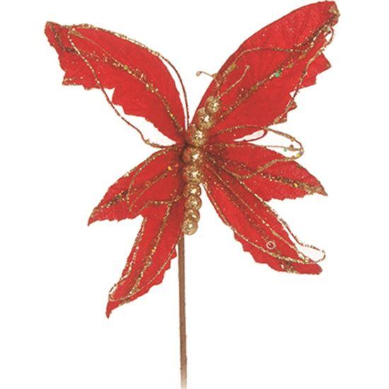 Flores Cabo Médio / Borboleta Vermelho (Flores Cabo Curto) - 1 Unidade
