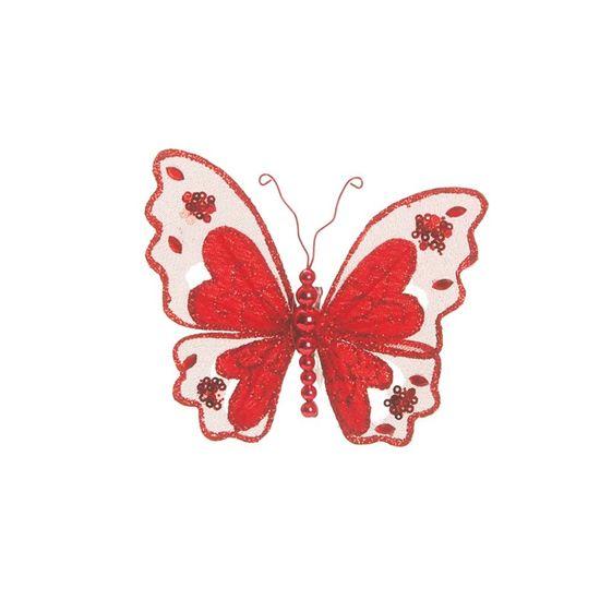 Borboleta Vermelho (Maxi Borboletas) - 1 Unidade