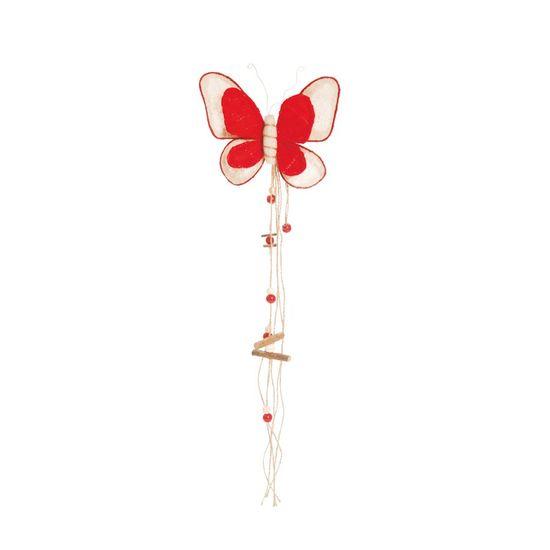 Borboleta Marfim e Vermelho Tamanho G (Borboletas) - 1 Unidade