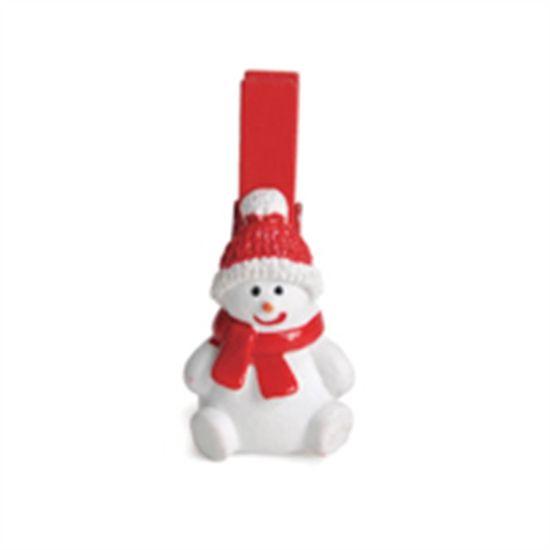 Prendedor Boneco Vermelho e Branco (Mini Adesivos e Prendedores) - Jogo com 6 Peças