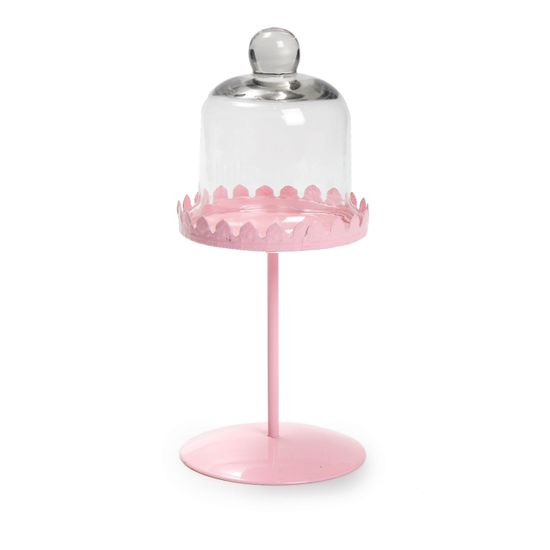 Cake - Solitário para Cupcake com Cúpula Rosa - Pacote com 1 un