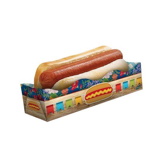 Caixa para Hot Dog Festa Junina Festcolor - 08 unidades