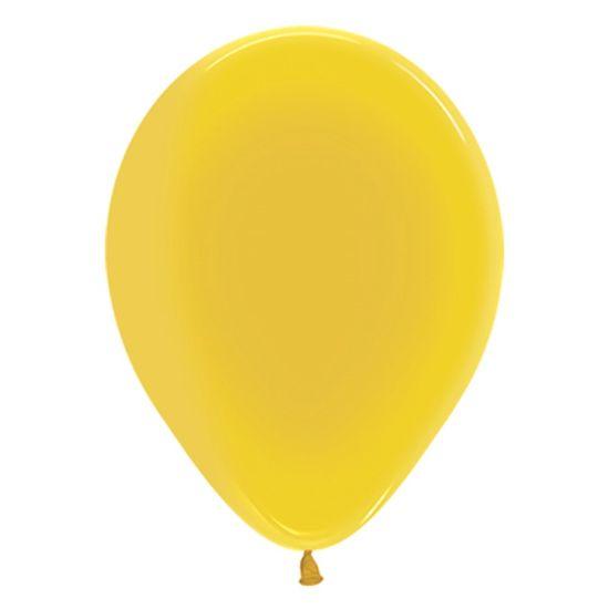Festa Mario Kart - Balão Látex Cristal Amarelo R5 - 50 Unidades